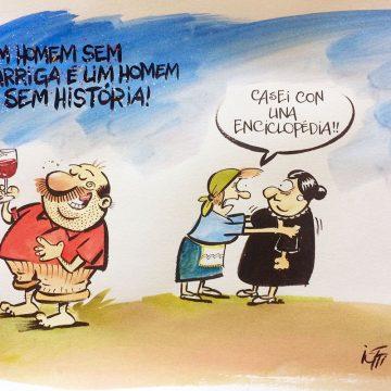 Ilustração Radicci: Homem sem barriga
