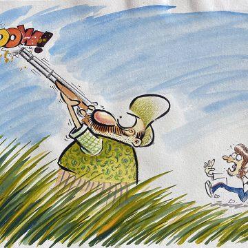 Ilustração original Radicci Caçador