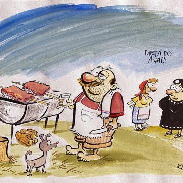 Ilustração original do Radicci: Dieta do açaí
